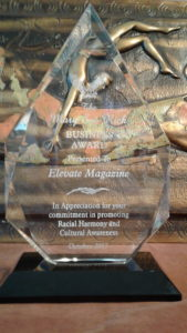 Elevate Magazine bestowed the 2017 Mary Sue Rich Diversity Award from REACH (Racial Empowerment and Cultural Harmony)