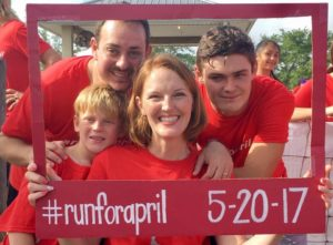 The Von Maxey family at the Run for April 5K