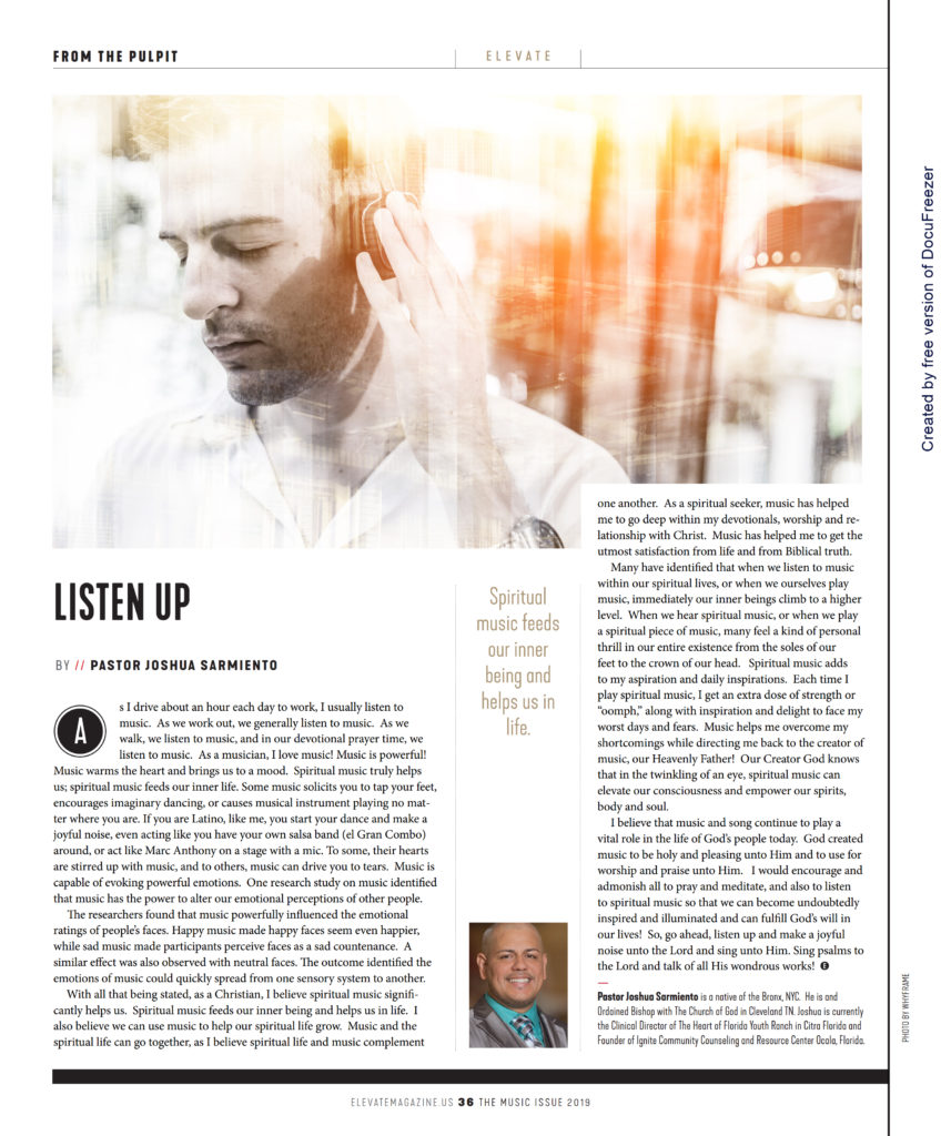 From the Pulpit: Listen Up – Elevate Magazine
